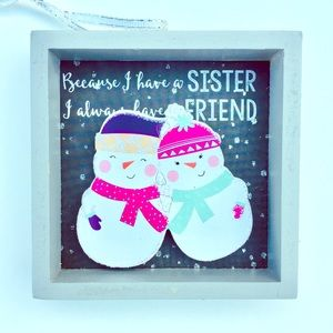 🆓🎁 Holiday Snowman ⛄️ Ornament: Sister & Friend